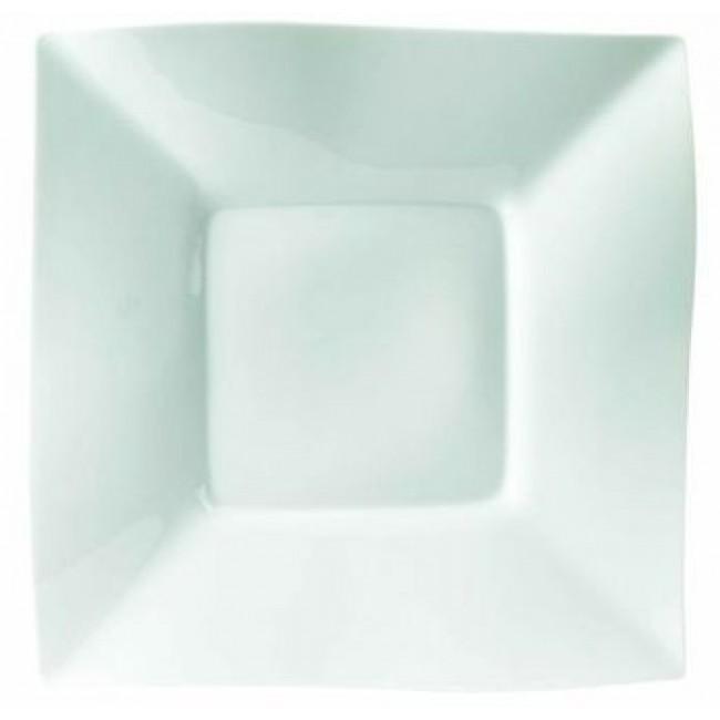 Assiette carrée blanche 26x26cm