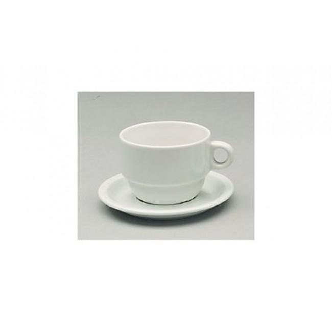 Tasse à déjeuner empilable blanche 24cl