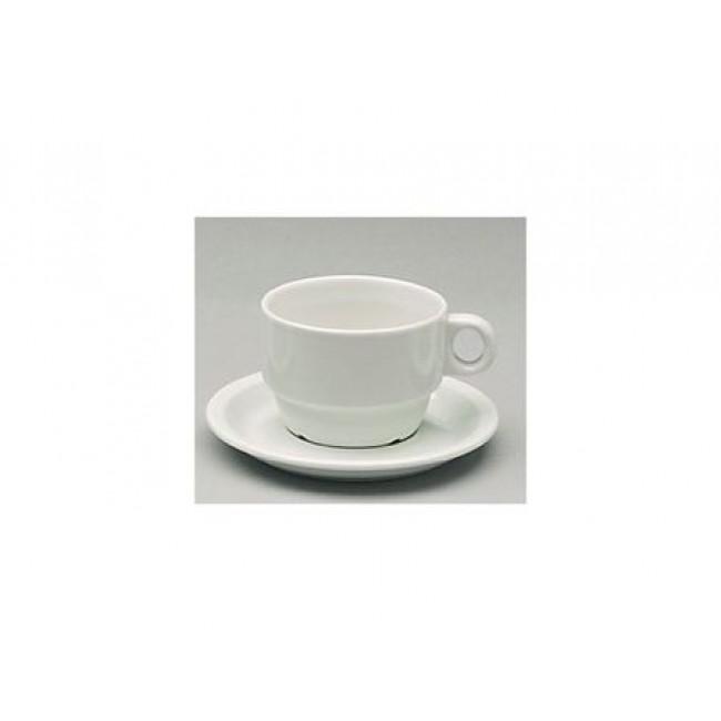 Tasse à thé empilable Elegance blanche 19cl