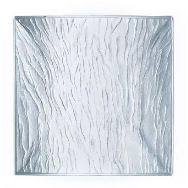 Assiette transparente carrée 25cm - Minerali Arcoroc