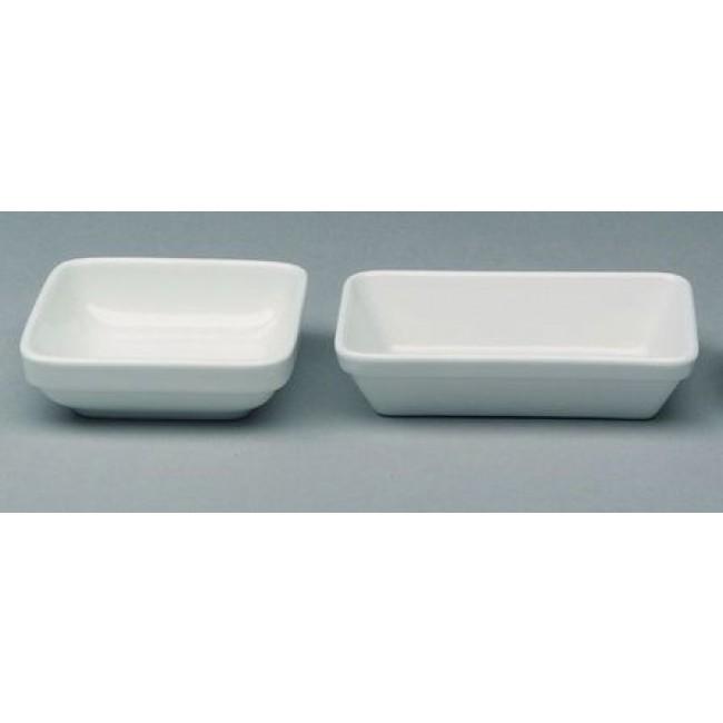 Ravier empilable rectangulaire blanc 15 x 9cm