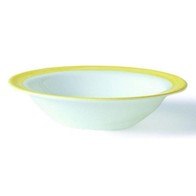 Coupelle empilable blanche/jaune 12cm