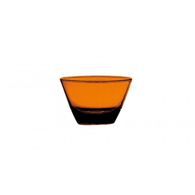 Coupelle ronde ambre Ø12cm en polycarbonate - Lot de 6