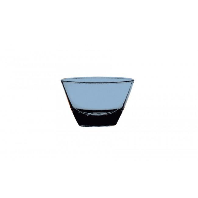 Coupelle ronde saphir Ø12cm en polycarbonate - Lot de 6