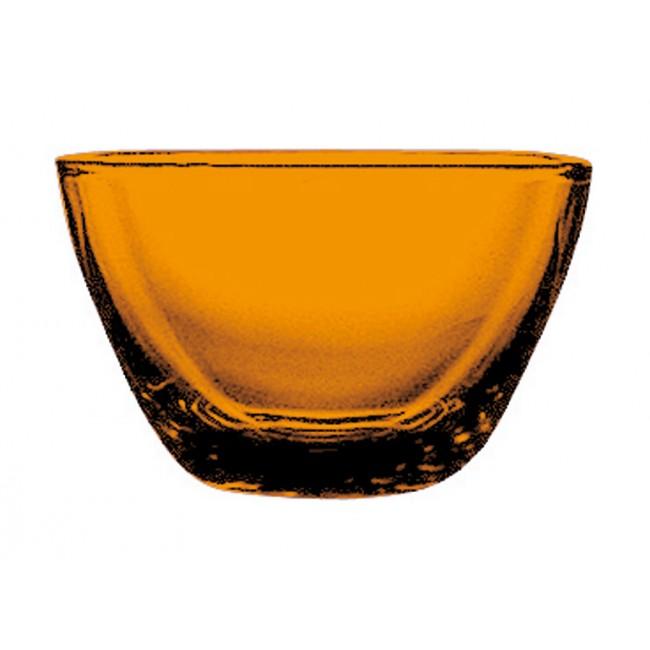 Coupelle carrée ambre 10cmx10cm en polycarbonate - Lot de 6