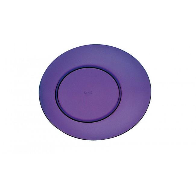 Assiette plate améthyste Ø27cm en polycarbonate - Lot de 6