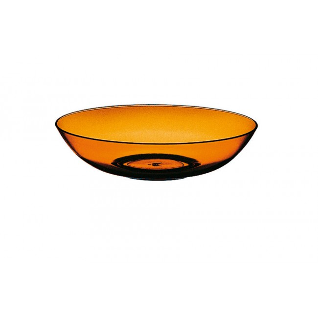 Assiette creuse ambre Ø18cm en polycarbonate - Lot de 6