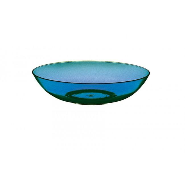 Assiette creuse saphir Ø18cm en polycarbonate - Lot de 6