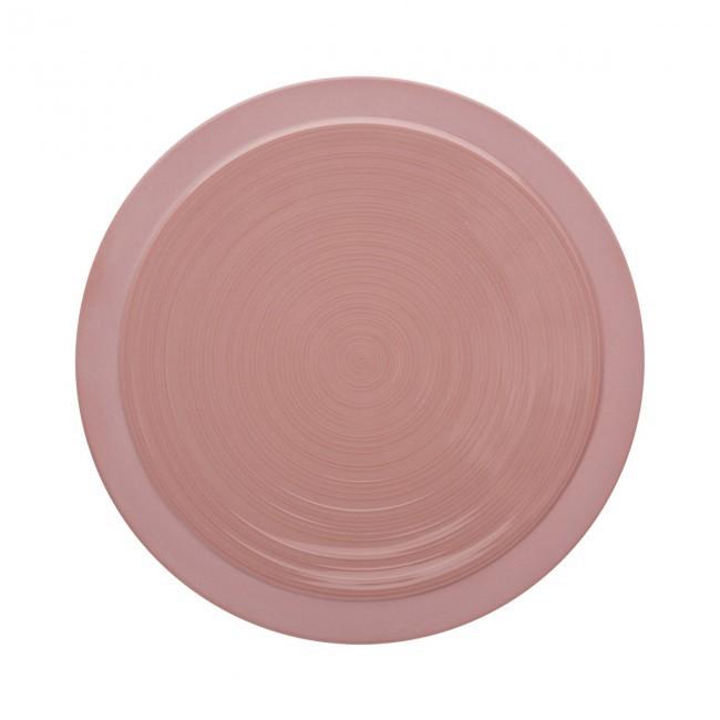 Assiette plate ronde 23cm sable rose en grès - A l'unité - Bahia - Guy Degrenne