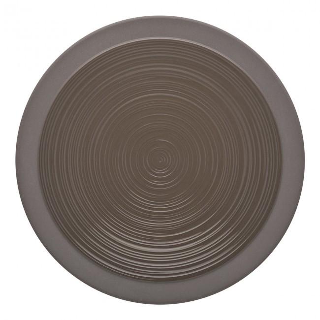 Assiette plate ronde 14cm basalte en grès - A l'unité - Bahia - Guy Degrenne