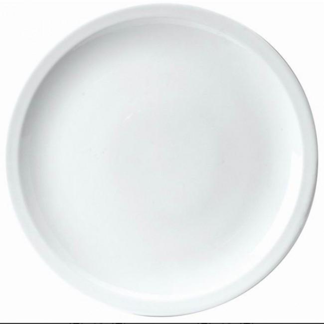Assiette plate ronde blanche 20cm en porcelaine - Sarreguemines