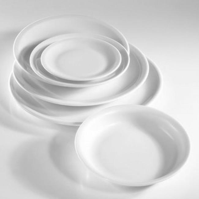 Assiette plate ronde blanche 21cm en porcelaine - Bourges - Pillivuyt