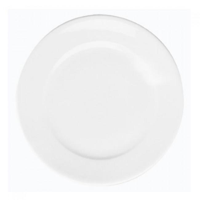 Assiette plate ronde blanche 24,5cm en porcelaine - Paris - Pillivuyt