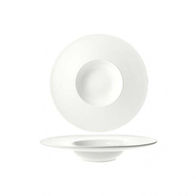 Assiette à risotto ronde blanche 14.8cm - A l'unité - Rings - Cosy & Trendy