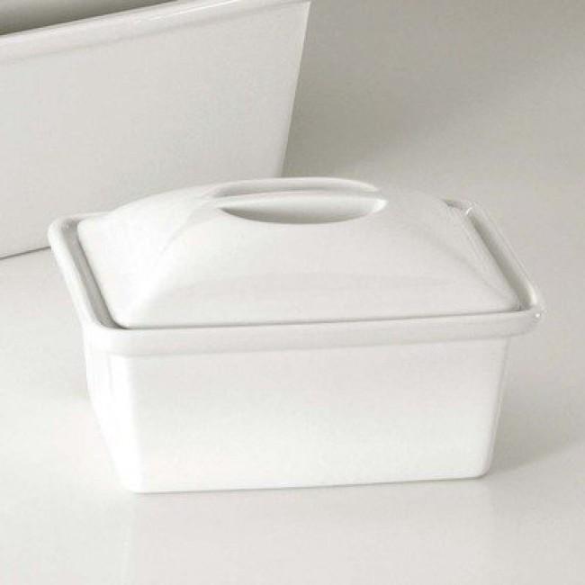Gîte à pâté rectangulaire avec couvercle blanc 165cl en porcelaine - Pillivuyt
