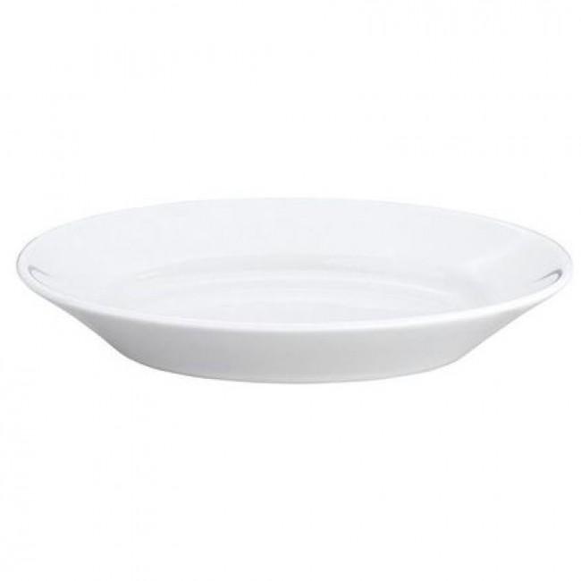 Plat oval blanc 33x23,3cm en porcelaine - Pillivuyt
