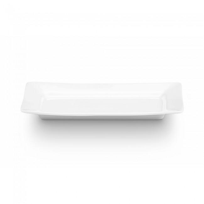 Plateau rectangulaire blanc 25 x10,5cm en porcelaine - Quartet - Pillivuyt