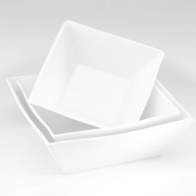 Saladier carré blanc 21,5x21,5cm 200cl en porcelaine - Quartet - Pillivuyt