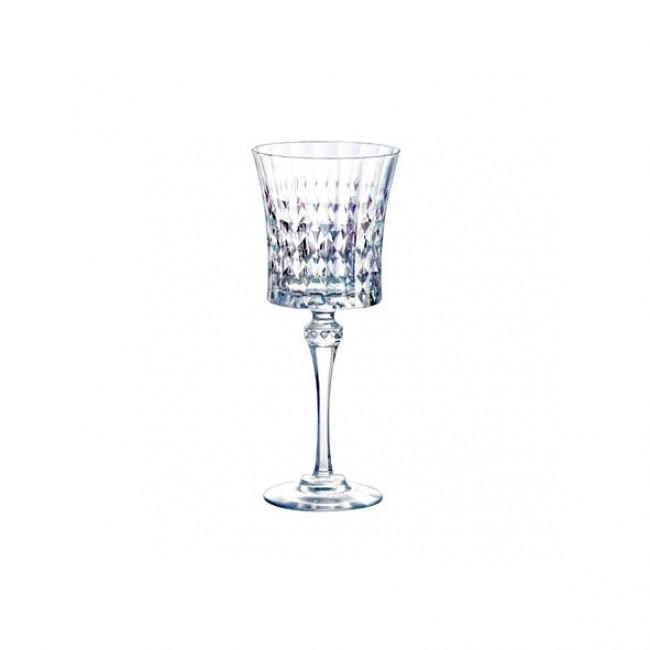 Verre à vin 19cl en verre krysta transparent - Lot de 6 - Lady Diamond - Eclat Cristal d'Arques