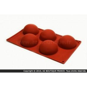 Moule flexible en silicone - 5 demi-sphères - Flexipad - Paderno