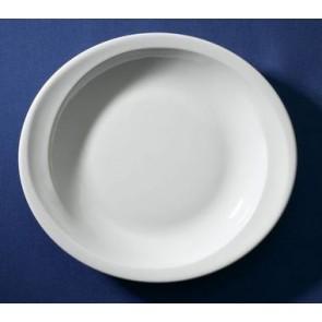 Assiette creuse ovale blanche 19,7x17,8cm