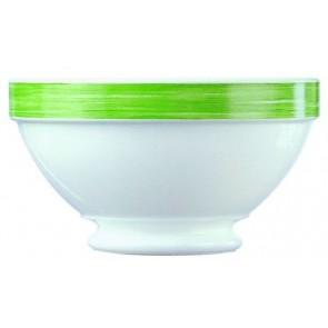 Bol empilable blanc/vert 51cl