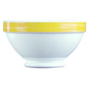 Bol empilable blanc/jaune 51cl