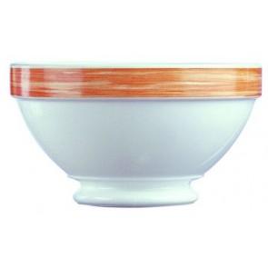 bol empilable blanc/orange 51cl en arcopal - arcoroc