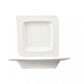 Assiette creuse carrée en porcelaine 19cm blanche - A l'unité - Louise - Cosy & Trendy