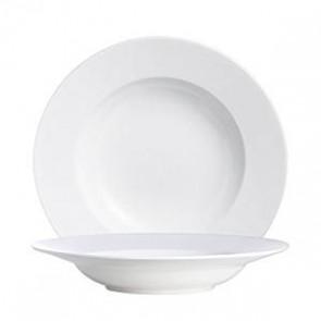 Assiette creuse ronde blanche en porcelaine 25cm - Oléa - Chef & Sommelier