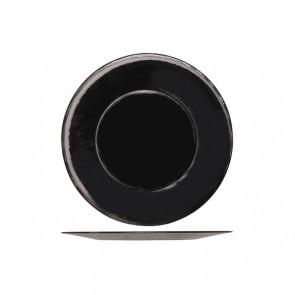 Grande assiette de présentation ronde 31cm noire - Inca - Bormiolli Rocco