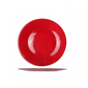 Grande assiette de présentation ronde 31cm rouge - Inca - Bormiolli Rocco