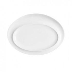 Assiette ovale 28x21cm en porcelaine blanche - Scenari - Arcoroc