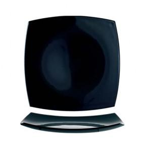 Assiette plate carrée 26cm noire - A l'unité - Delice - Arcoroc