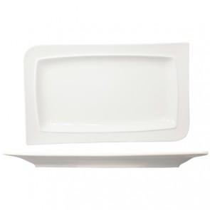 Assiette plate rectangulaire en porcelaine 28x16cm blanche - A l'unité - Louise - Cosy & Trendy