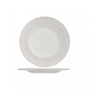 Assiette plate ronde blanche patine 28cm - Epis - Cosy & Trendy