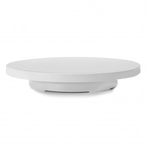 Base giratoire basse 31cm plastique blanc - patisserie - Ibili