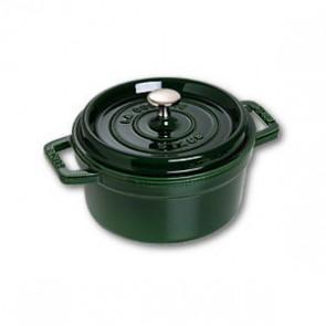 Cocotte en fonte ronde 10 cm vert basilic - Vitamines - Staub