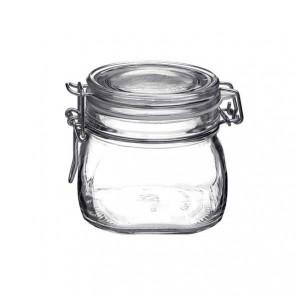 Bocal hermétique carré 50cl en verre pour terrine - Fido - Bormioli Rocco