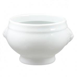 Bol potage tête de lion blanc 55 cl en porcelaine - Tête de lion - Cosy & Trendy