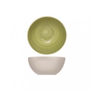 Bol rond vert 14.5cm en grès - A l'unité - Turbolino - Cosy & Trendy