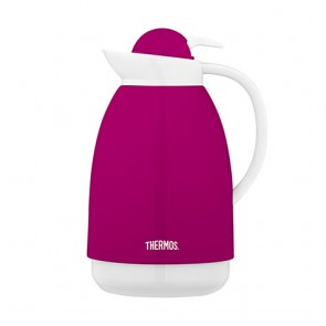 Carafe isotherme inox 1L fuchsia et blanche - Patio - Thermos