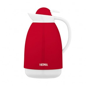 Carafe isotherme inox 1L rouge et blanche - Patio - Thermos
