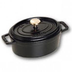 Cocotte en fonte ovale 11 cm noir mat - Fondamentales - Staub