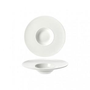 Assiette à risotto ronde blanche 18.3cm - Rings - Cosy & Trendy