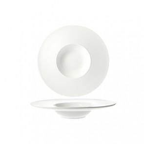 Assiette à risotto ronde blanche 22cm - Rings - Cosy & Trendy