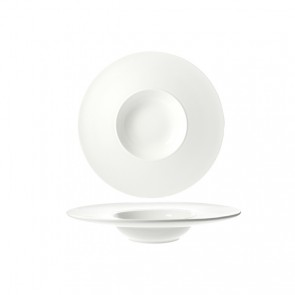 Assiette à risotto ronde blanche 30cm - Rings - Cosy & Trendy