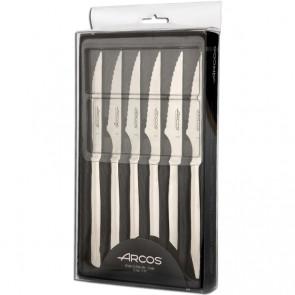 Couteau à steak - lame inox 10cm - Coffret cadeau de 6 - Chuletero - Arcos