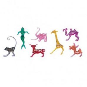 Décoration à cocktail en plastique colorée animaux - Lot de 250 - Apéritif - AZ boutique