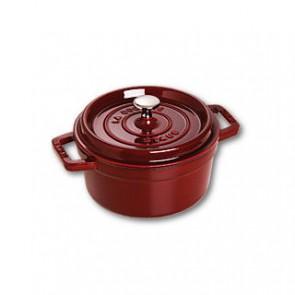 Cocotte en fonte ronde 10 cm rouge grenadine - Vitamines - Staub